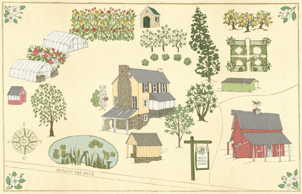 Bee's Wing Farm Map Bluemont, Virginia Flower CSA Subscriptions