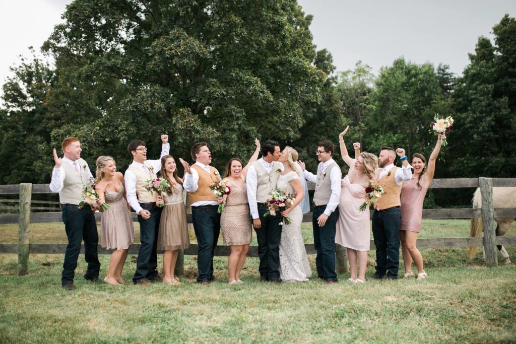 Bee's Wing Farm Wedding Party at Bluemont Vineyard